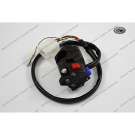 Lichtschalter im KTM Style Funktion Licht, Hupe und Abstellknopf mit Kabelstrang und Stecker