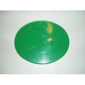 Number Plate oval green, size 265x215mm
