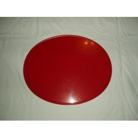 Number Plate oval red