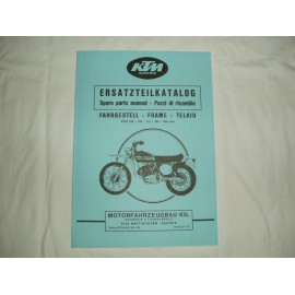 KTM Spare Parts Manual Frame 1974