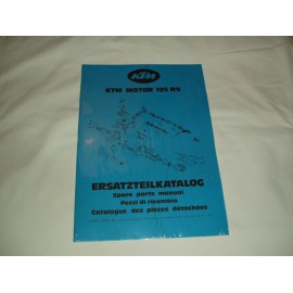 Spare Parts Manual Engine KTM 125 RV 1980-81