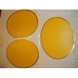 set number plate decals Oval Yellow