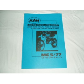 KTM Spare Parts Manual Frame MC5 1977