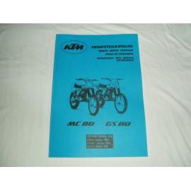 KTM Spare Parts Manual Frame 1979