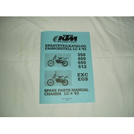 Spare Parts Manual Frame KTM LC4 Models 1993