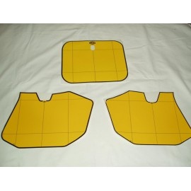 Number Plate decal kit yellow KTM MX 1985-1986