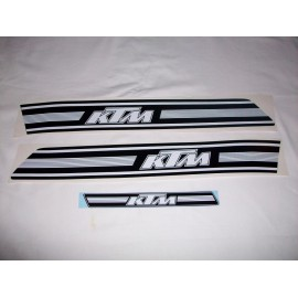 decal kit KTM models 1974/1975 black/white