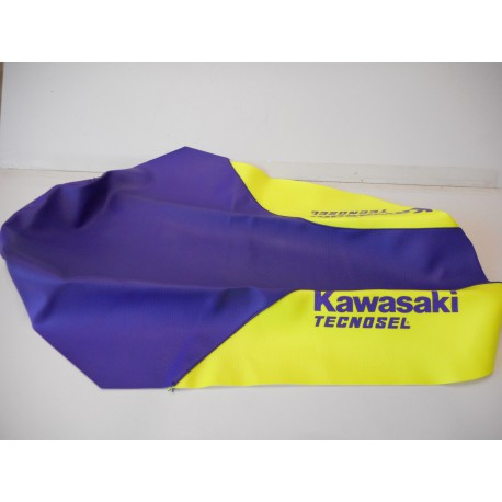 André Horvath's - enduroklassiker.at - Kawasaki Vintage MX Parts - seat cover Technosel
