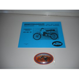 KTM Spare Parts Manual Frame 250 1983