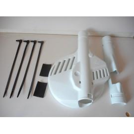 André Horvath's - enduroklassiker.at - Plastics and Bodywork - Brake Disc Guard white KTM 1985-1986