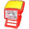 Headlight Cemoto for Honda XL Red