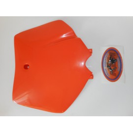 SX Front Number Plate orange