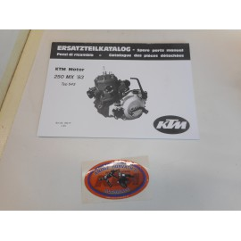 KTM Spare Parts Manual Engine 250 1983