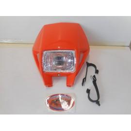 Headlight Cemoto in KTM EXC Style orange