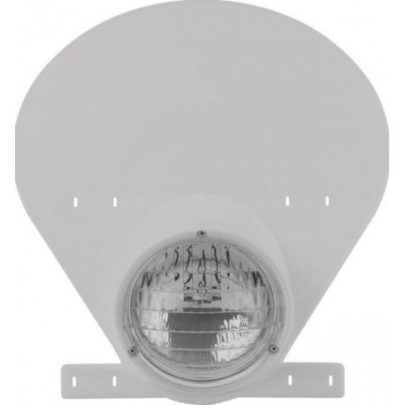 Preston Petty Headlight Number Plate White