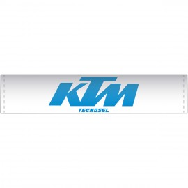 handlebar pad Vintage Tecnosel KTM white blue