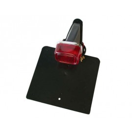 Rear Rubber Number Plate Holder GS Enduro with Taillight, 175x165mm