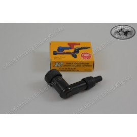 Spark Plug Cover NGK black 90 degree angled