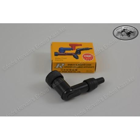 Spark Plug Cover NGK black 90 degree angled