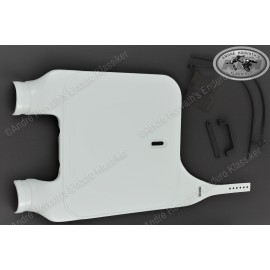 Acerbis MX Front Number Plate white for Upside Down Forks