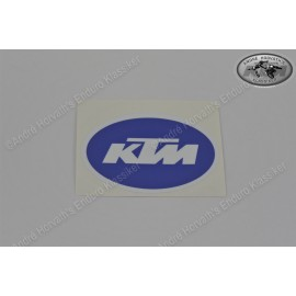 KTM Logo sticker blue White 80x52mm