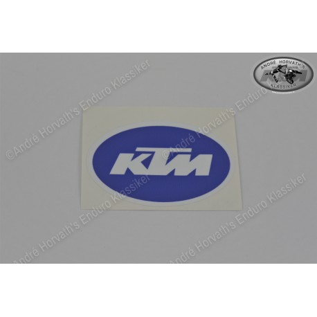 KTM Logo sticker blue White 80x52mm