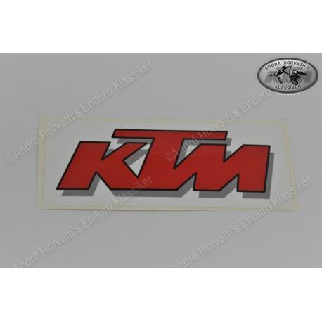 KTM sticker red