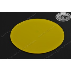 number plate oval yellow 265x215