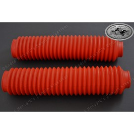 fork boots kit RED 38mm/350mm length