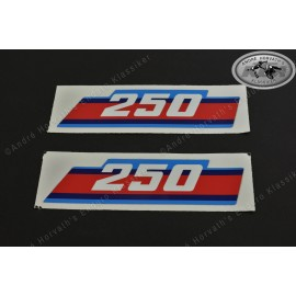 Radiator spoiler decals KTM 250 1986