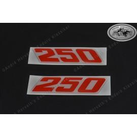Decals KTM 250 Models 1988-1990 Pair