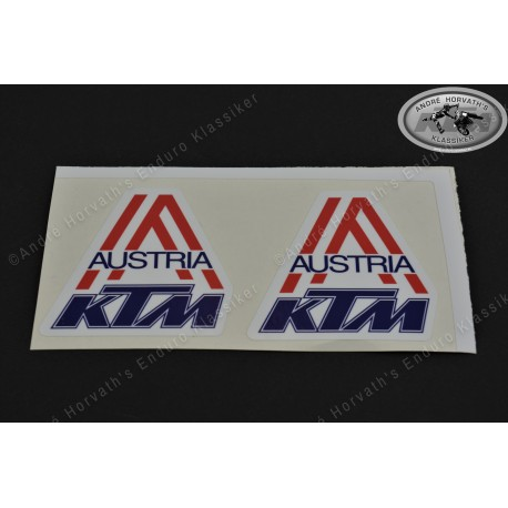 André Horvath's - enduroklassiker.at - Decals/Stickers/Accessoirs - Decal kit KTM Austria