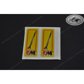 Marzocchi Fork Decals small yellow
