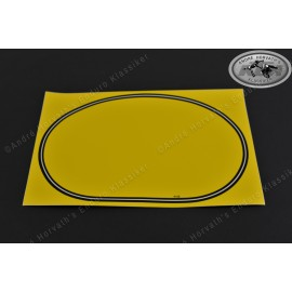 number plate decal front GS