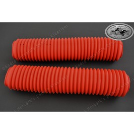 fork boots kit RED 40-43mm/460mm length
