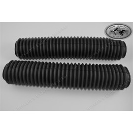 fork boots kit BLACK 45-50mm/460mm length