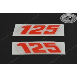 Decals KTM 125 Models 1988-1990 Pair