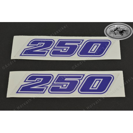 "André Horvath's - enduroklassiker.at - Decals/Stickers/Accessoirs - decal kit blue ""250"""