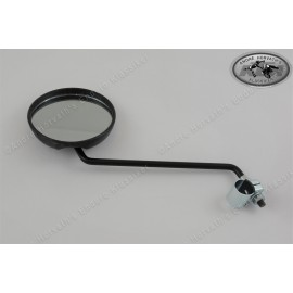 Mirror Black Plastic with clamp fits left or right