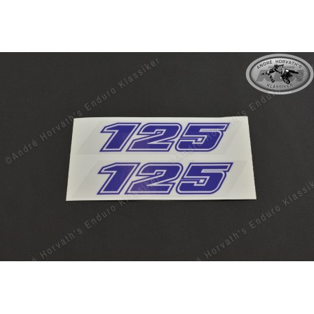 André Horvath's - enduroklassiker.at - Decals/Stickers/Accessoirs - Decal Pair 125 blue