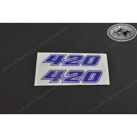 Decal Kit KTM 420 blue 1981-1983