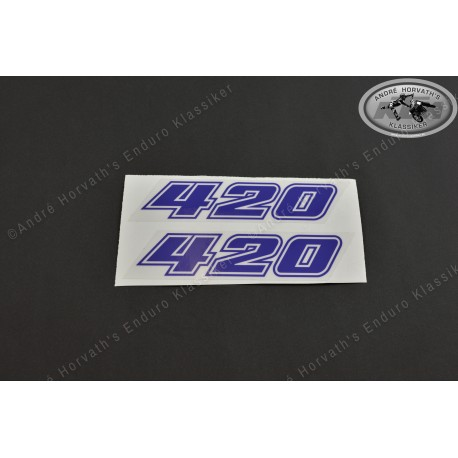 André Horvath's - enduroklassiker.at - Decals/Stickers/Accessoirs - Decal Kit 420 blue