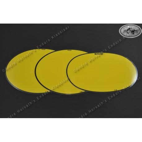 Set number plate decals