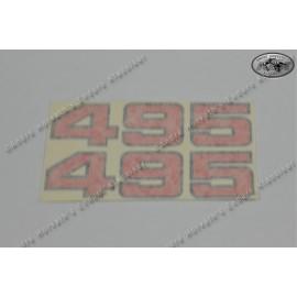 Sticker kit 495 red