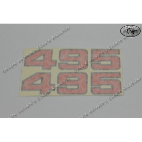 André Horvath's - enduroklassiker.at - Decals/Stickers/Accessoirs - Sticker kit 495 red