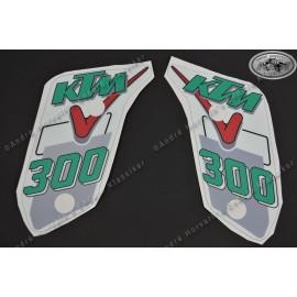 Decal Kit Gas Tank Spoiler KTM 300 1991