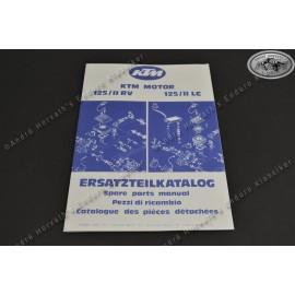 KTM Spare Parts Manual Engine KTM 125 1980-81