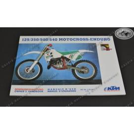 Owners Manual KTM 125/350/500/540 Model 1991