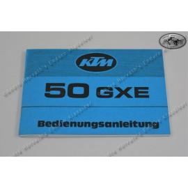 Owners Manual KTM 50 GXE