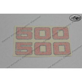 decal kit 500 red